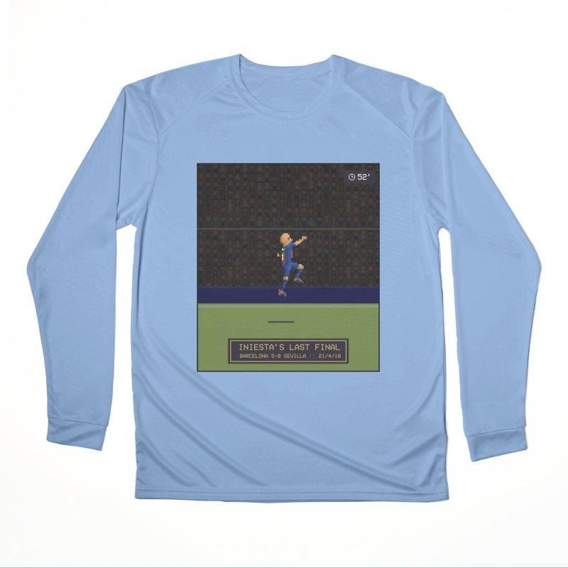 Iniesta's last final - Pixel Art Women's Longsleeve T-Shirt by BM Design Shop