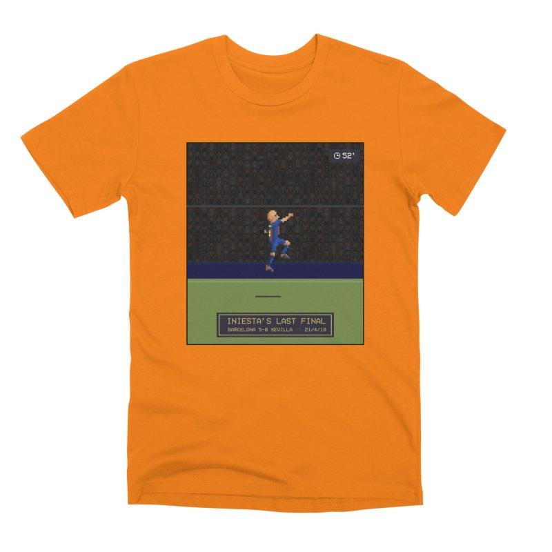 Iniesta's last final - Pixel Art Men's T-Shirt by BM Design Shop