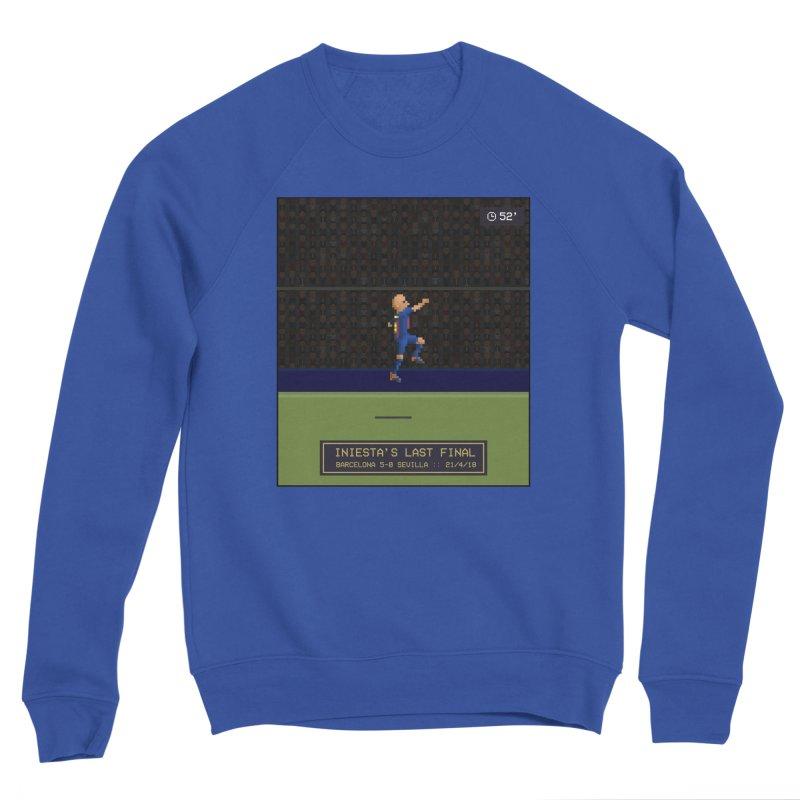 Iniesta's last final - Pixel Art Men's Sweatshirt by BM Design Shop