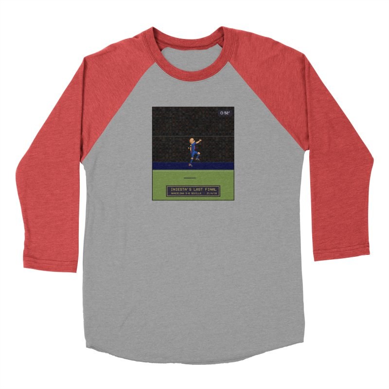 Iniesta's last final - Pixel Art Men's Longsleeve T-Shirt by BM Design Shop