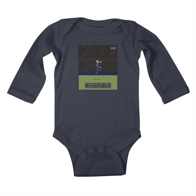 Iniesta's last final - Pixel Art Kids Baby Longsleeve Bodysuit by BM Design Shop