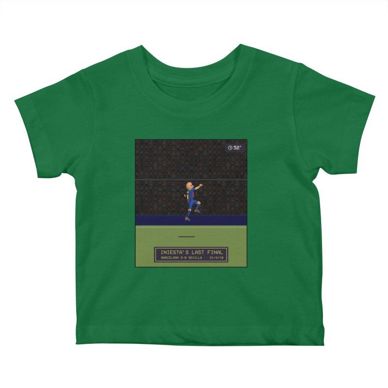 Iniesta's last final - Pixel Art Kids Baby T-Shirt by BM Design Shop