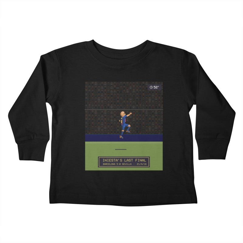 Iniesta's last final - Pixel Art Kids Toddler Longsleeve T-Shirt by BM Design Shop
