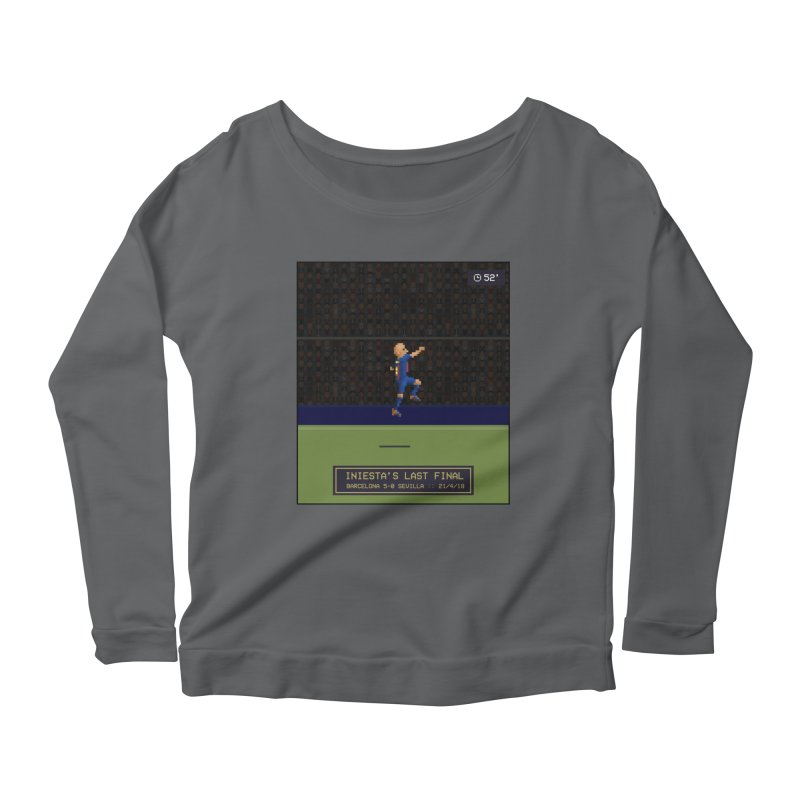 Iniesta's last final - Pixel Art Women's Longsleeve T-Shirt by BM Design Shop