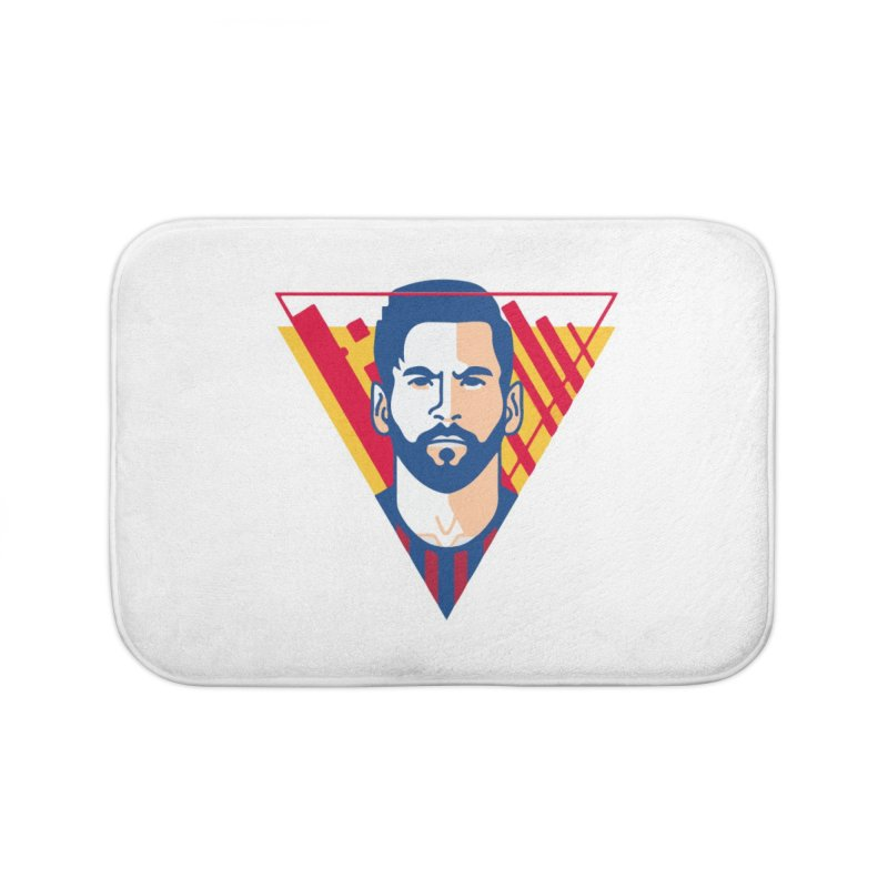 Messi Vector Home Bath Mat by BM Design Shop