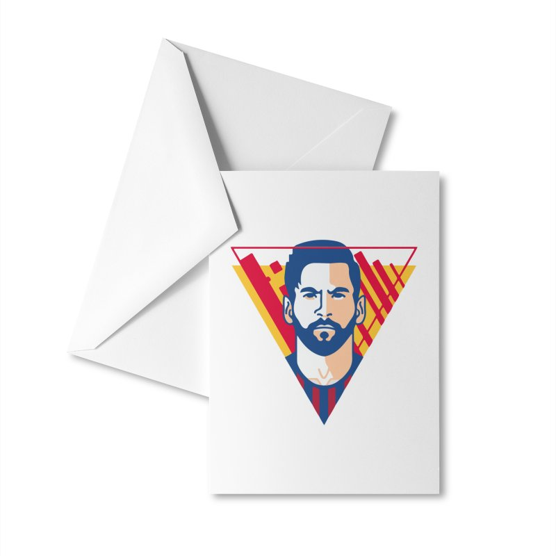 Messi Vector Accessories Greeting Card by BM Design Shop