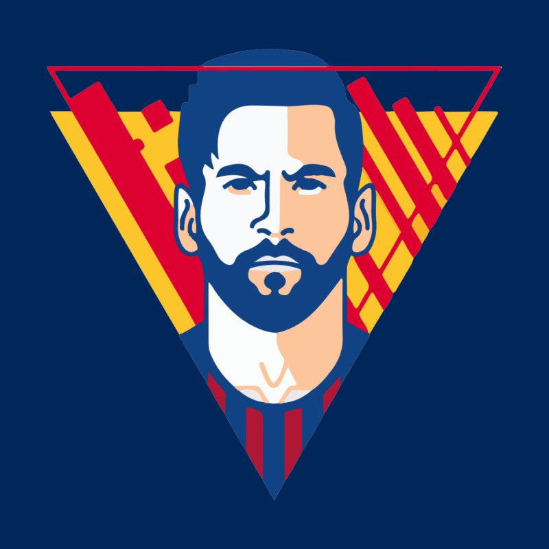 Messi Vector Home Stretched Canvas by BM Design Shop