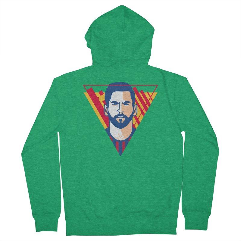 Messi Vector Men's Zip-Up Hoody by BM Design Shop