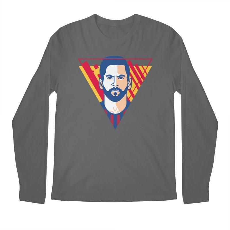 Messi Vector Men's Longsleeve T-Shirt by BM Design Shop