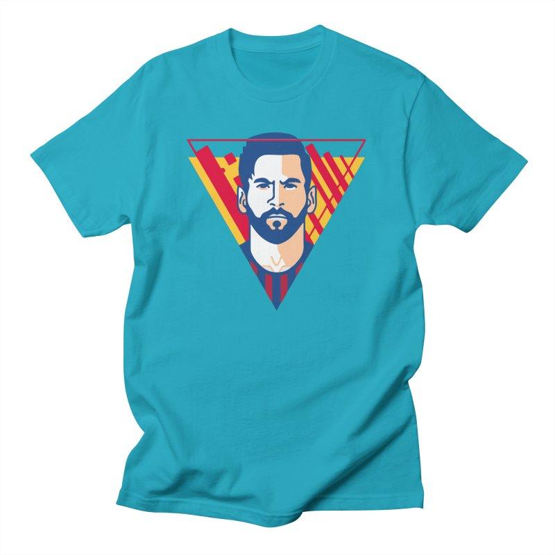 Messi Vector Men's T-Shirt by BM Design Shop