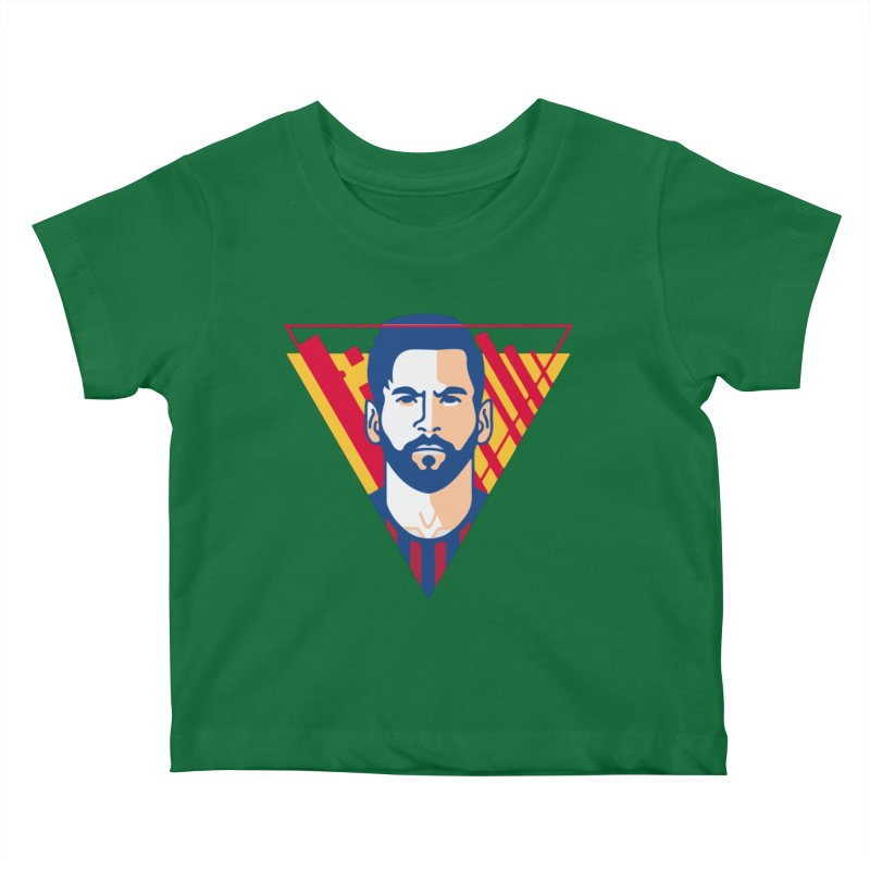 Messi Vector Kids Baby T-Shirt by BM Design Shop