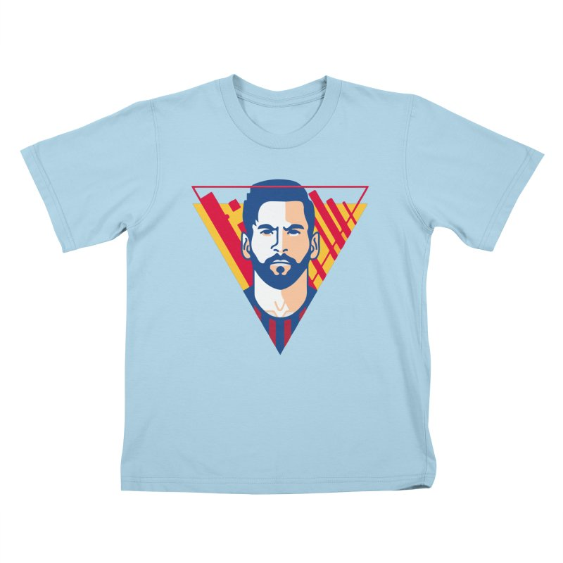 Messi Vector Kids T-Shirt by BM Design Shop