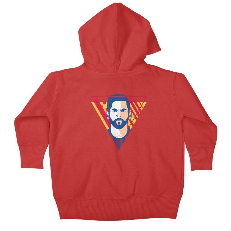 Messi Vector Kids Baby Zip-Up Hoody by BM Design Shop