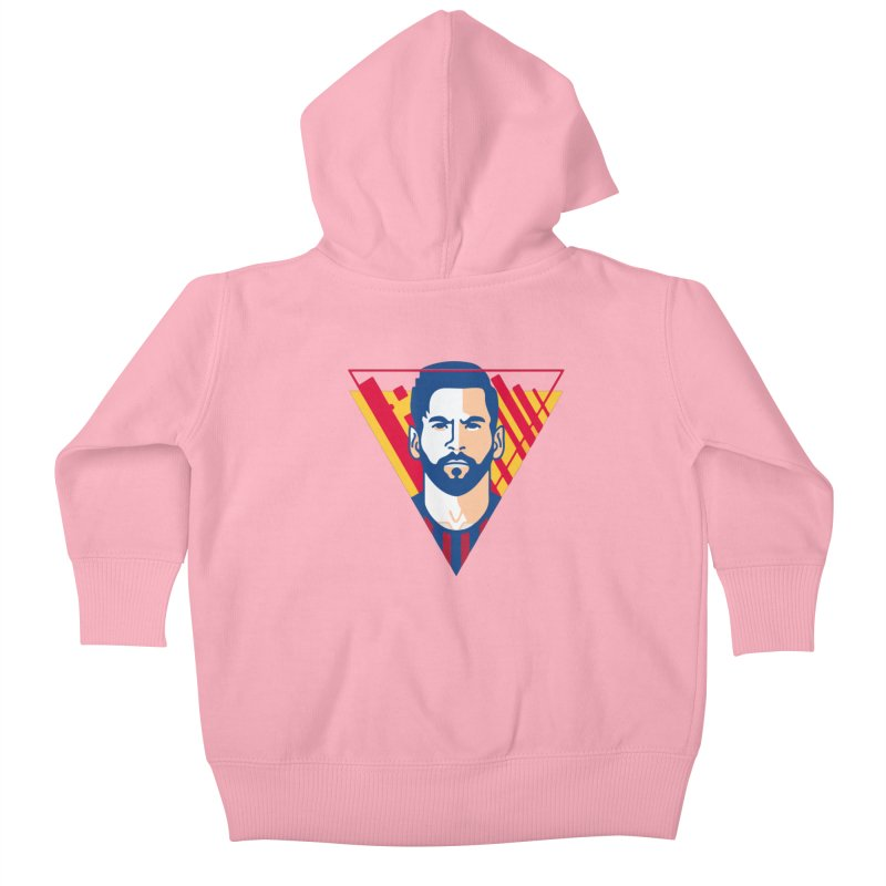 Messi Vector Kids Baby Zip-Up Hoody by BM Design Shop
