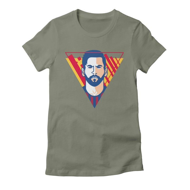 Messi Vector Women's T-Shirt by BM Design Shop