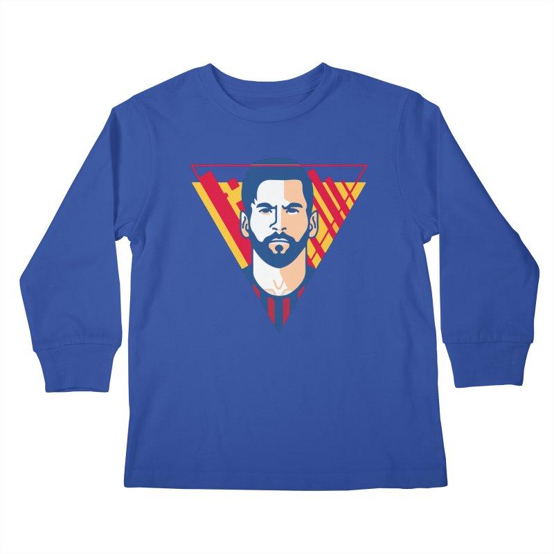 Messi Vector Kids Longsleeve T-Shirt by BM Design Shop