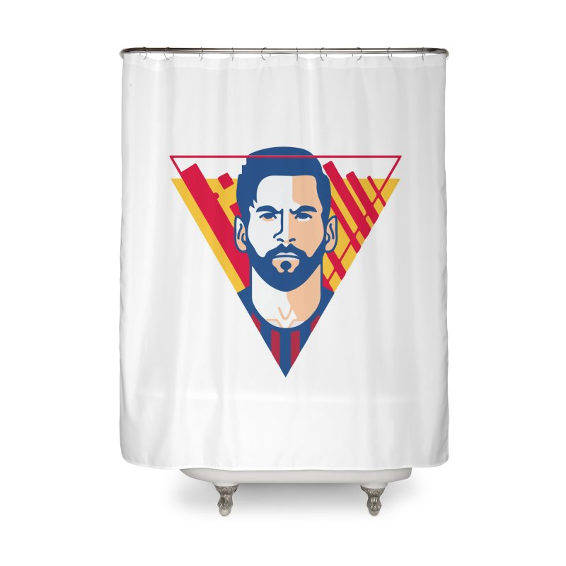 Messi Vector Home Shower Curtain by BM Design Shop
