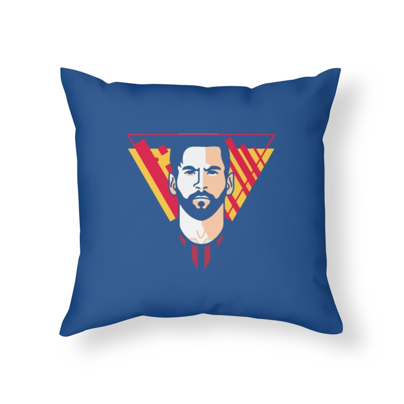 Messi Vector Home Throw Pillow by BM Design Shop