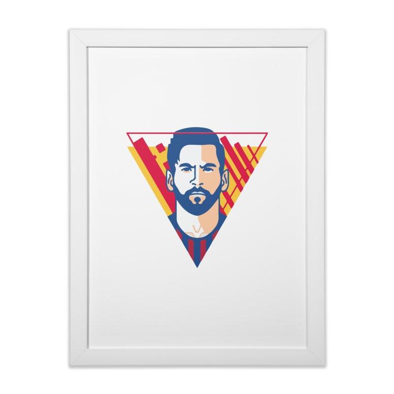 Messi Vector Home Framed Fine Art Print by BM Design Shop
