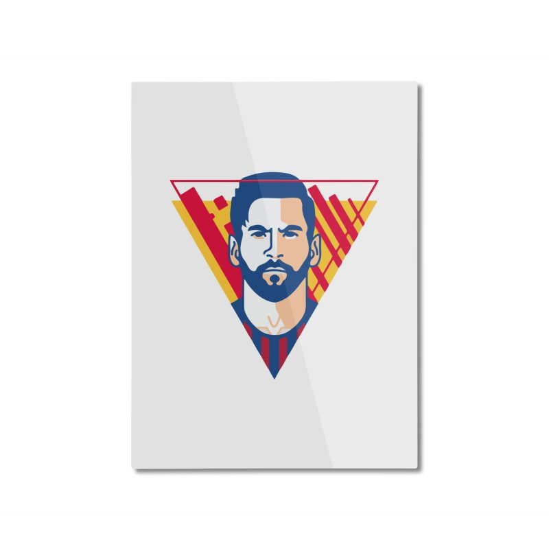 Messi Vector Home Mounted Aluminum Print by BM Design Shop