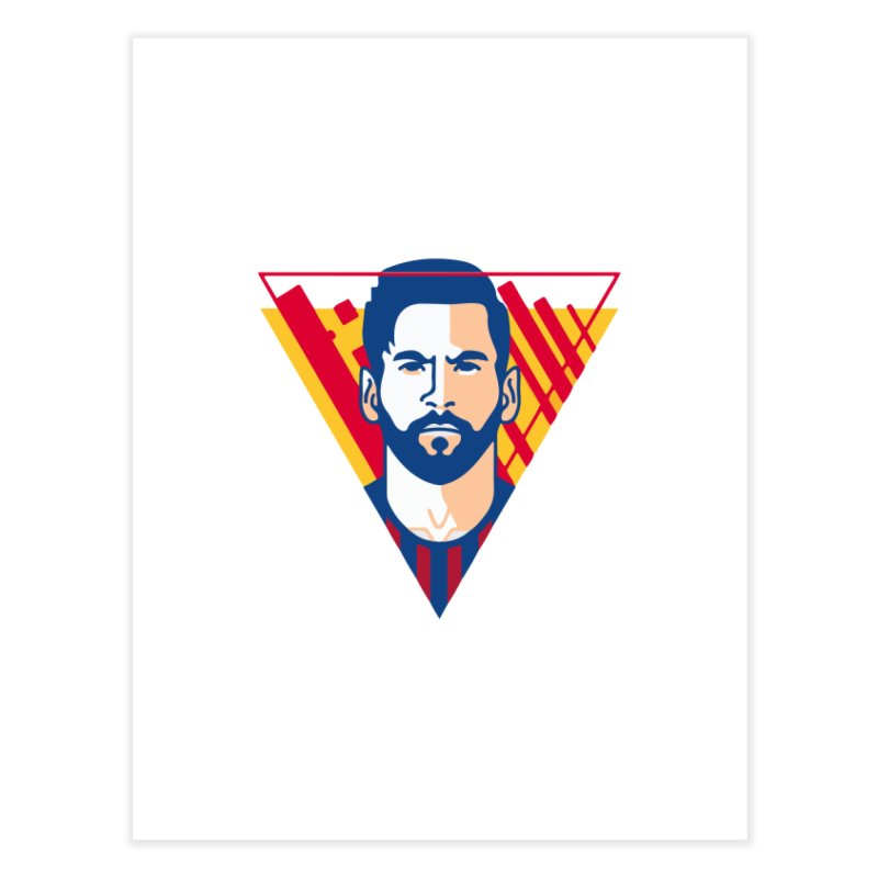 Messi Vector Home Fine Art Print by BM Design Shop