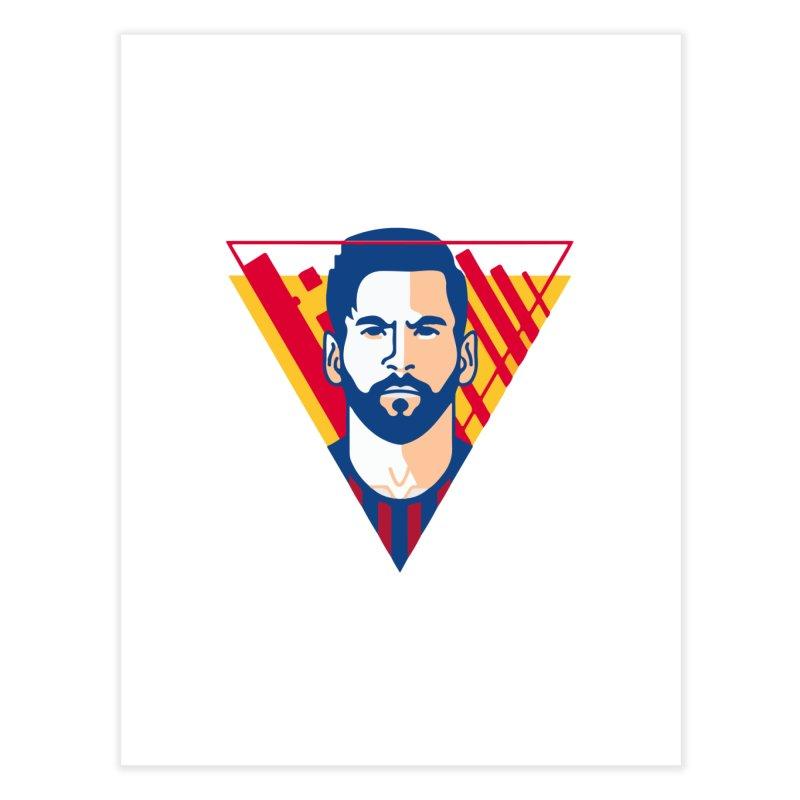 Messi Vector Home Fine Art Print by BM Design Shop