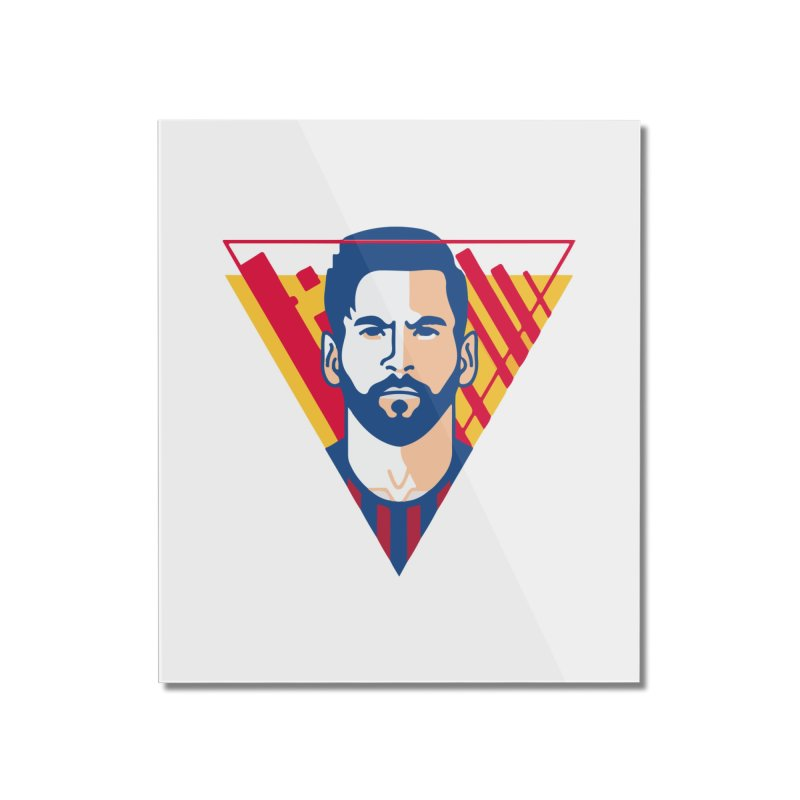 Messi Vector Home Mounted Acrylic Print by BM Design Shop