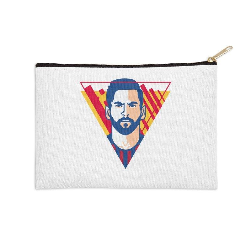 Messi Vector Accessories Zip Pouch by BM Design Shop