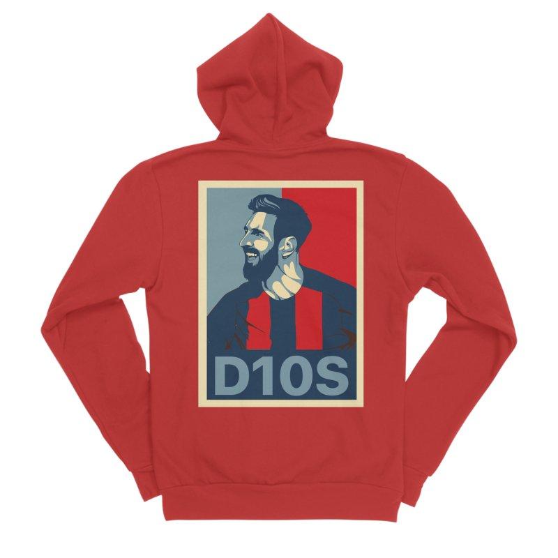 Vote Messi for D10S Men's Zip-Up Hoody by BM Design Shop