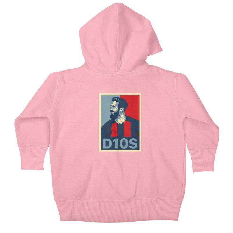 Vote Messi for D10S Kids Baby Zip-Up Hoody by BM Design Shop