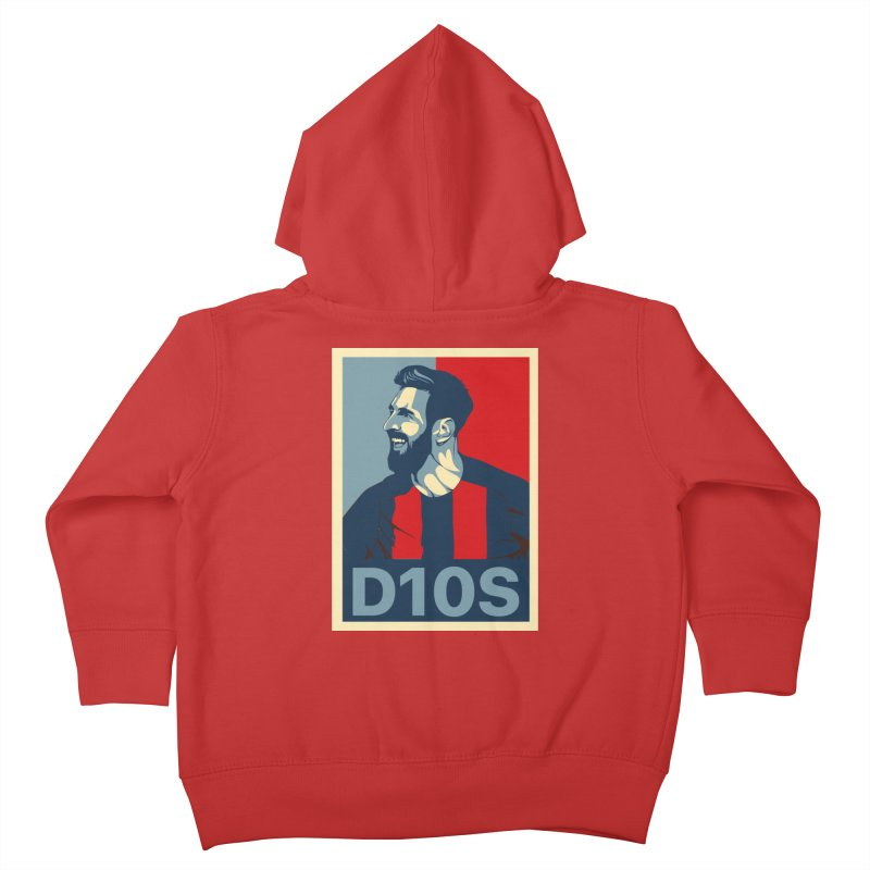 Vote Messi for D10S Kids Toddler Zip-Up Hoody by BM Design Shop