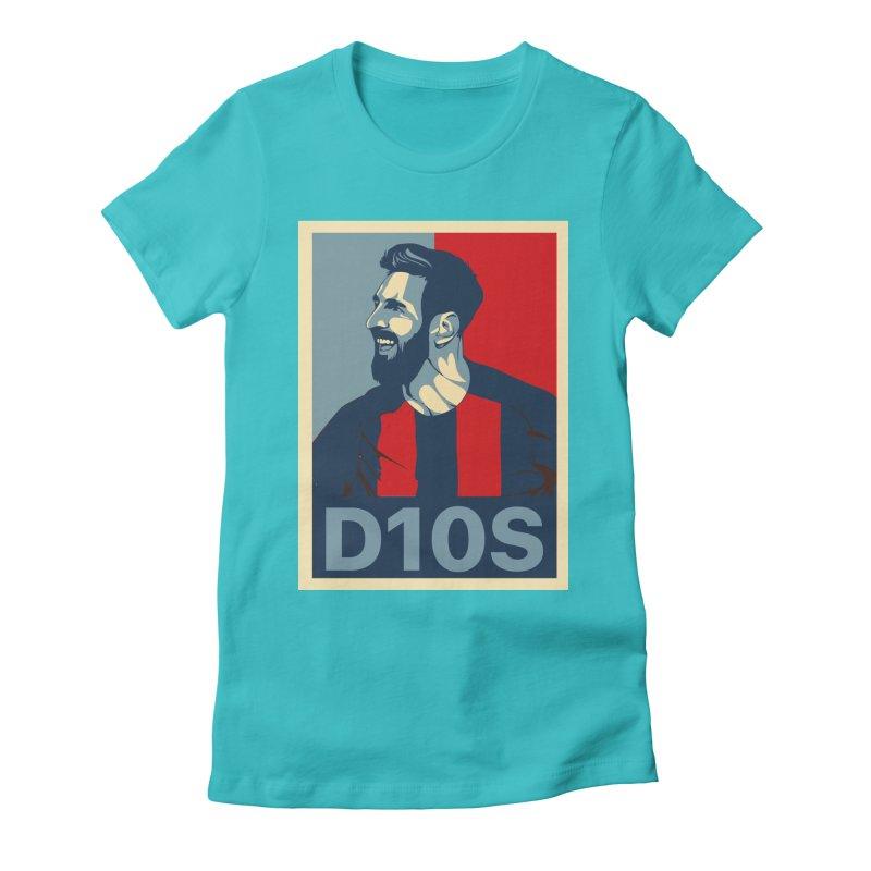 Vote Messi for D10S Women's T-Shirt by BM Design Shop