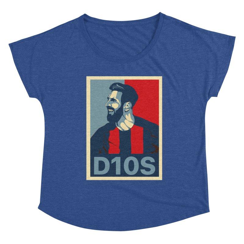 Vote Messi for D10S Women's Scoop Neck by BM Design Shop