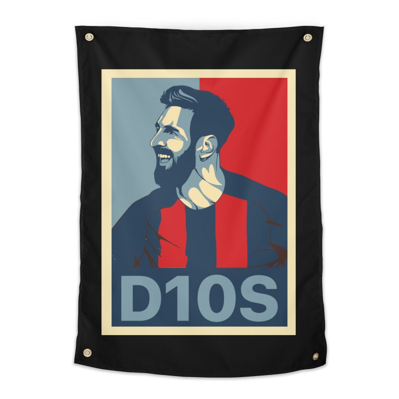 Vote Messi for D10S Home Tapestry by BM Design Shop