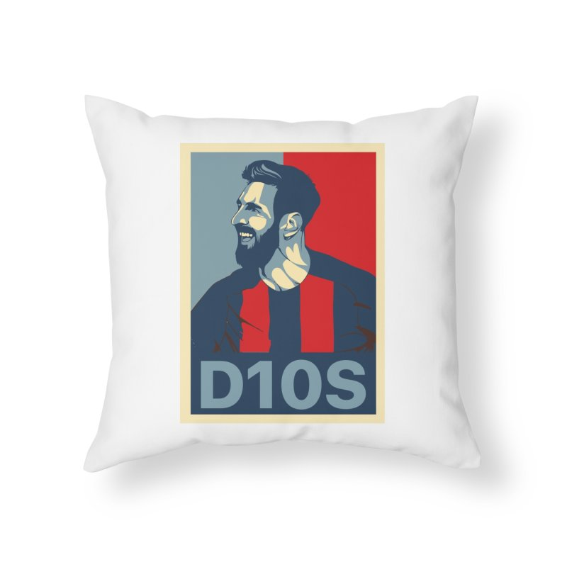 Vote Messi for D10S Home Throw Pillow by BM Design Shop
