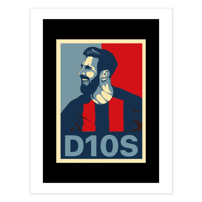 Vote Messi for D10S Home Fine Art Print by BM Design Shop