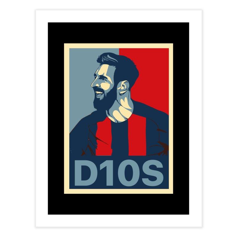 Vote Messi for D10S Home Fine Art Print by BM Design Shop