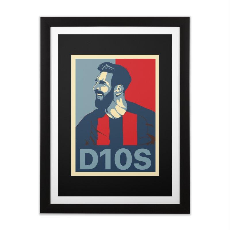 Vote Messi for D10S Home Framed Fine Art Print by BM Design Shop