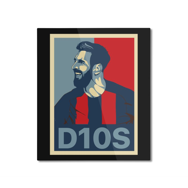 Vote Messi for D10S Home Mounted Aluminum Print by BM Design Shop
