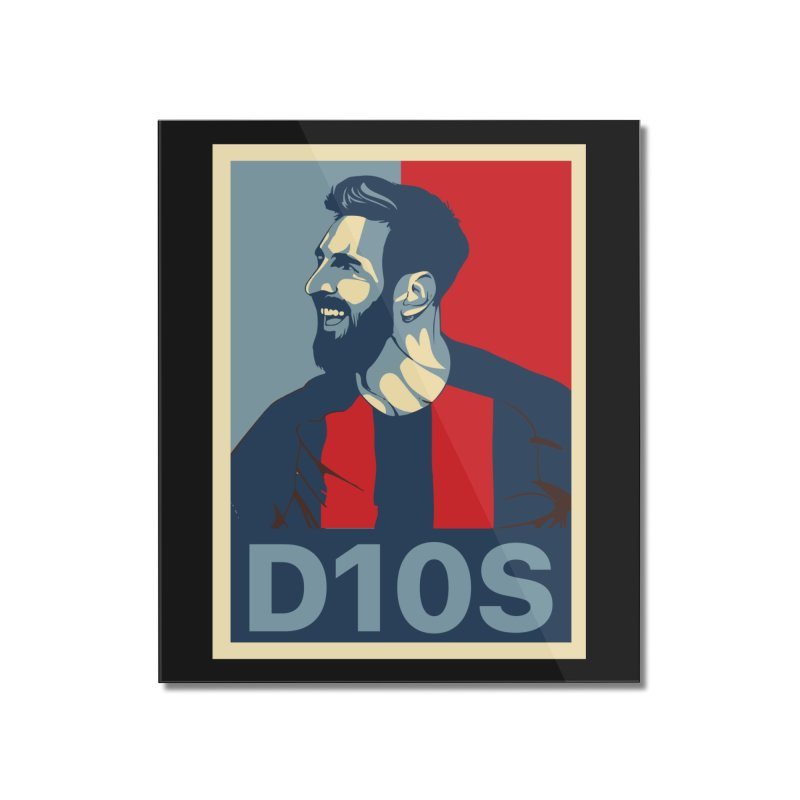 Vote Messi for D10S Home Mounted Acrylic Print by BM Design Shop