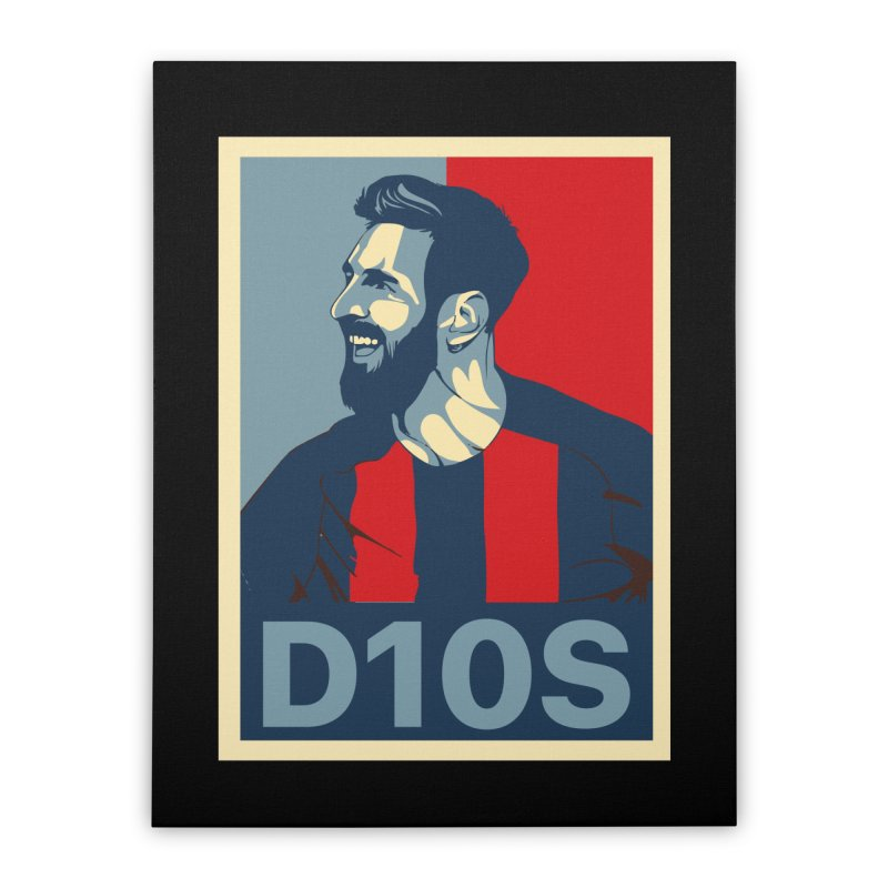 Vote Messi for D10S Home Stretched Canvas by BM Design Shop