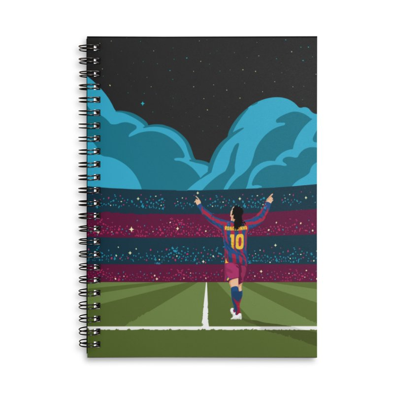 Ronaldinho quote Accessories Notebook by BM Design Shop