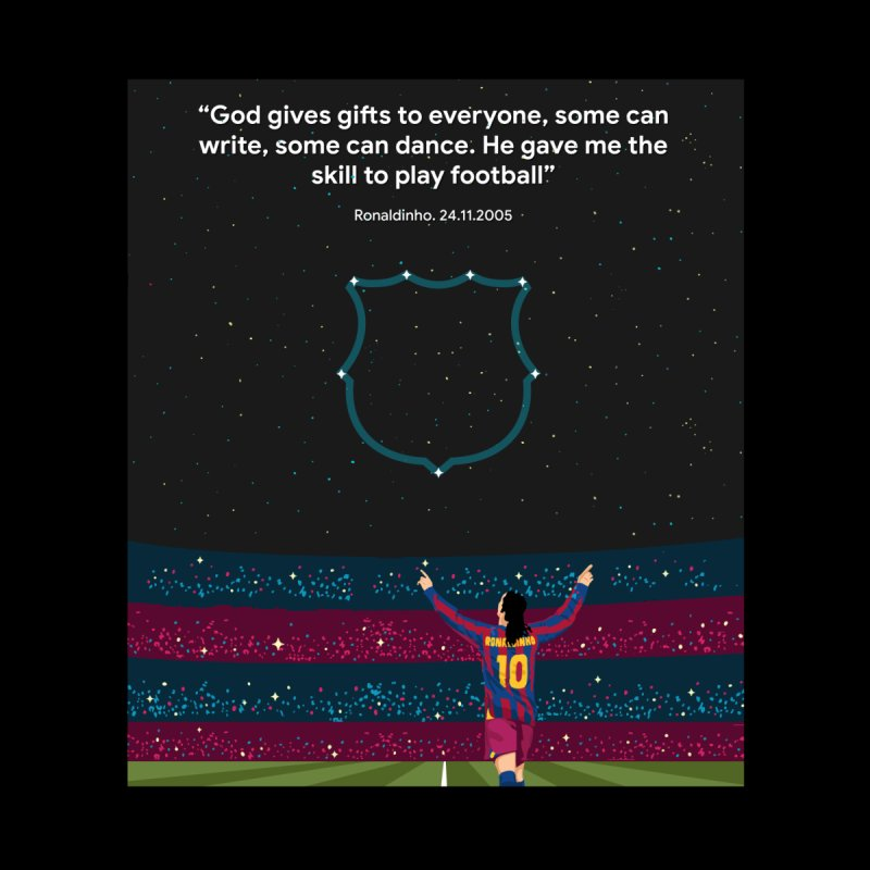 Ronaldinho quote Home Stretched Canvas by BM Design Shop