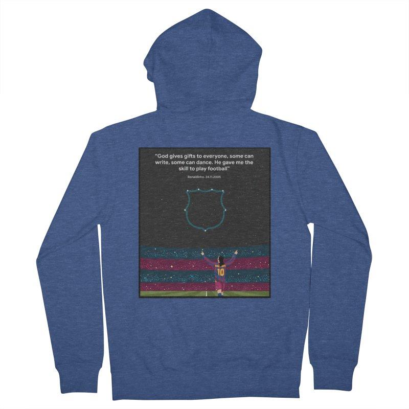 Ronaldinho quote Women's Zip-Up Hoody by BM Design Shop