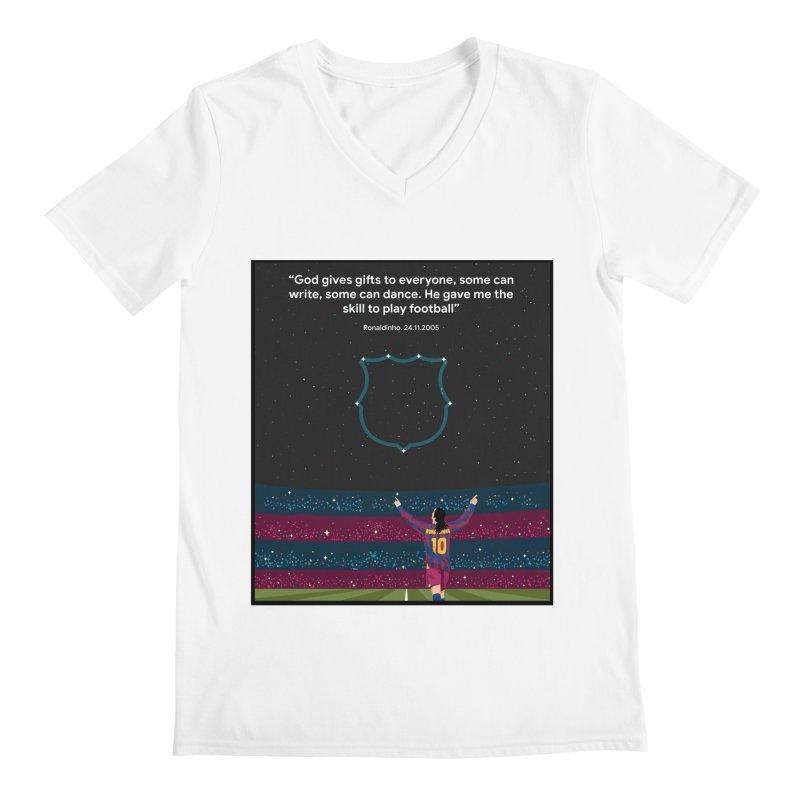 Ronaldinho quote Men's V-Neck by BM Design Shop