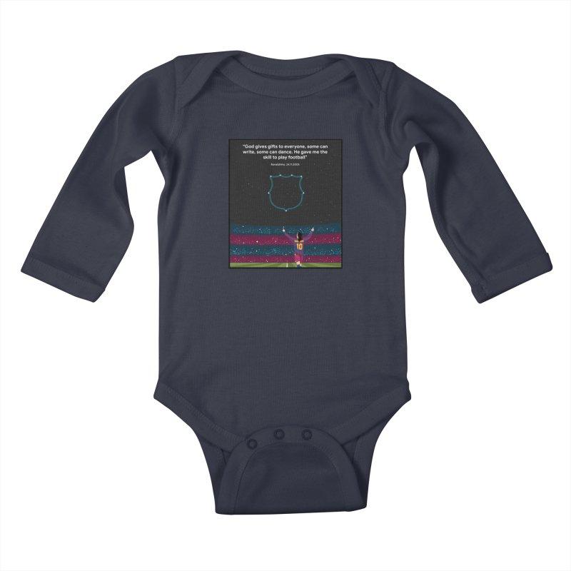 Ronaldinho quote Kids Baby Longsleeve Bodysuit by BM Design Shop
