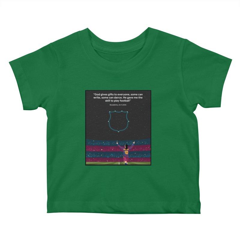 Ronaldinho quote Kids Baby T-Shirt by BM Design Shop