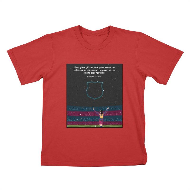 Ronaldinho quote Kids T-Shirt by BM Design Shop