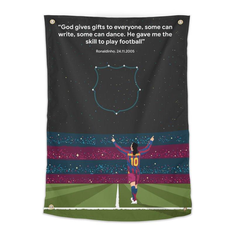Ronaldinho quote Home Tapestry by BM Design Shop