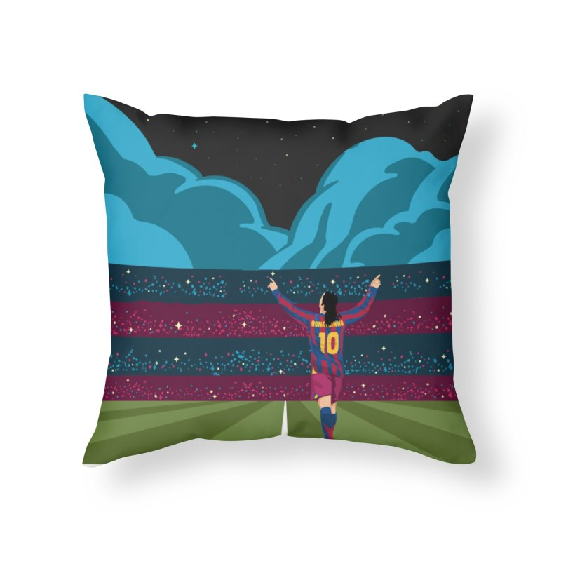 Ronaldinho quote Home Throw Pillow by BM Design Shop